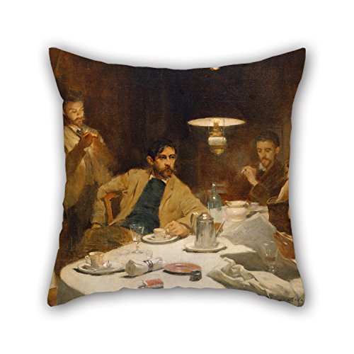 Loveloveu 18 X 18 Inches / 45 By 45 Cm Oil Painting Willard Leroy Metcalf - The Ten Cent Breakfast Pillow Shams ,2 Sides Ornament And Gift To Gf,living Room,teens Boys,chair,son,kids (Breakfast Sham)