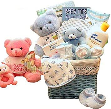 Baby Of Mine Newborn Gift Basket   BLUE   Unique Baby Shower Gift Idea