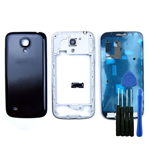 Blue Full Housing Cover Case Replacement for Samsung Galaxy S4 Mini i9190 i9195