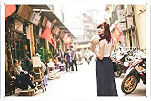 Tin Sign Metal Plate Poster of Girl 127 20*30cm by PBN