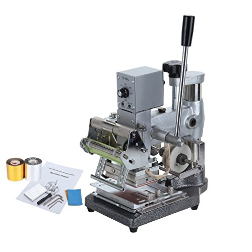Iglobalbuy 300W Hot Foil Stamping Machine Manual Bronzing Machine Tipper Stamper for PVC ID Card(Hot Foil Stamping Tipper)