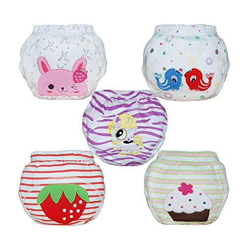 Christmas Gifts Babyfriend Baby Girls Washable 5 Pack Training Pants Kids Potty Cloth Diaper Nappy Underwear
