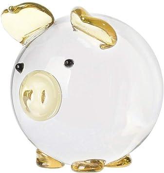 Chenqiu Figurine De Cochon En Cristal Decoration De