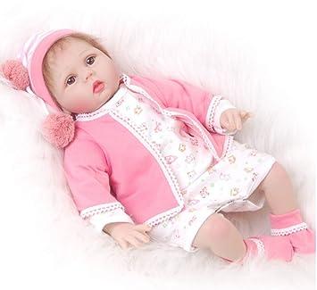 Amazon.es: LIDE 22 Pulgadas 55 cm Recien Nacido Baby Dolls Ojos ...
