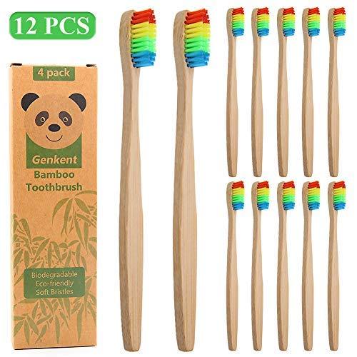 Cepillo de dientes de bambú Sonifox, ecológico, biodegradable y de ...