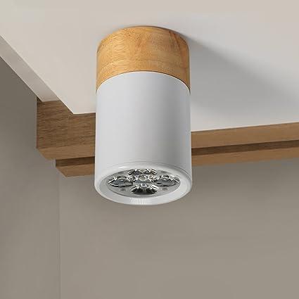 CHEN1 Lámpara Empotrada Led de Techo de Madera Lámpara de ...