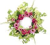 Pack of 2 Decorative Springtime Bright Black Eyed Susan Wreath