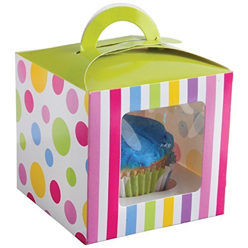 Lot Of 12 Candy Design Cupcake Carrier Boxes