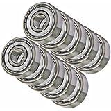 10 Bearing R4AZZ 1/4 x 3/4 x 9/32 inch Shielded Miniature Ball