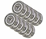 10 Bearing R4AZZ 1/4 x 3/4 x 9/32 inch Shielded Miniature Ball