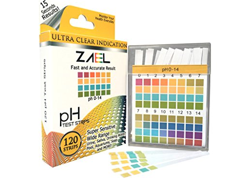 ZAEL pH Test Strips, 120ct Premium Value with Free Alkaline Food Chart (6x8), Professional Lab Grade Test Strips,...
