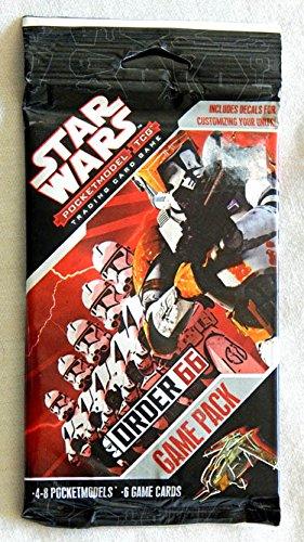Star Wars (SW OR1) ORDER 66 Pocketmodel Trading Card Game Pack - Wizkids 2007 2008 - 6 Cards + 4-To-8 Models - FACTORY SEALED