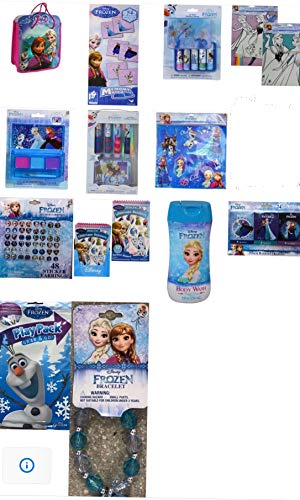 Disney Frozen Complete Bundle Surprise Girls Toys Bag/Cosmetic Set/Playpack+ Accessories Set (60+ pcs) | Perfect Gift for Girls Birthday,Christmas etc -