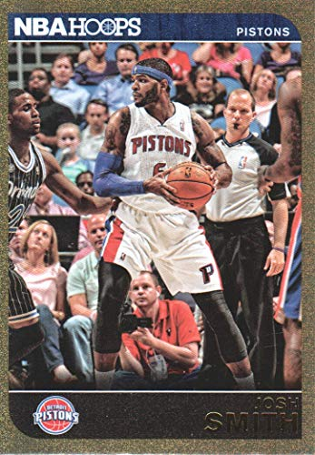 (2014-15 NBA Hoops Basketball Gold #77 Josh Smith Detroit Pistons)