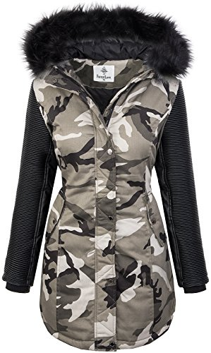 the latest f394e 26dd4 Damen Winter Jacke Parka Camouflage Mantel Army Jacke D-349