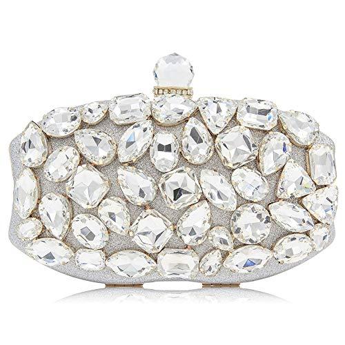 Bolsos Lujo Bags Gray Bolsos Mujer Bags Silver Noche De De Exclusivos Crystal Diamonds Cheongsam Bolsos para Dinner SHMILY SUqvO4O
