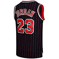 Camiseta Baloncesto para Hombre NBA #23 Michael Jordan Chicago Bulls Retro Camiseta Jugador Baloncesto Bordado Transpirable y Resistente al Desgaste Camiseta para