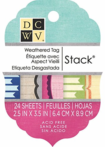 DCWV Tag Stack, Weathered, 24 Sheets, 2-1/2 x 3-1/2 inches