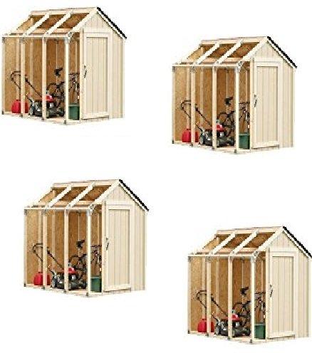 Barn Style Shed (Hopkins 90190 2x4basics Shed Kit, Barn Style Roof - 4 Packs)