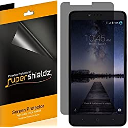 [2 Pack] Supershieldz- Privacy Anti-Spy Screen Protector Shield For ZTE ZMAX Pro -Lifetime Replacements Warranty - Retail Packaging