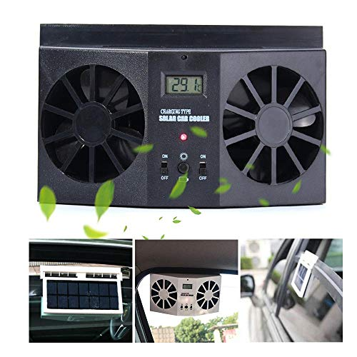 (Car Solar Air Circulator Exhaust Fan Car Exhaust Fan to Cool The Car, Solar Car Window Clip-On Exhaust Fan, Eliminate The Peculiar Smell Inside The Car and Can Be Used for General Types of Cars)