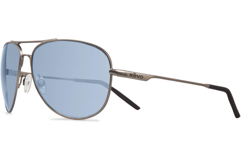 Revo Windspeed RE 3087 00 GBL Polarized  Sunglasses,Gun/Blue Water,66 mm