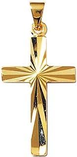 So Chic Bijoux © Pendentif Croix Christ Jésus Crucifix Facettes Plaqué Or 750 So Chic Bijoux © 15592