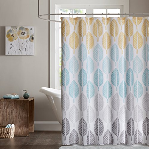 grey ombre shower curtain - 9