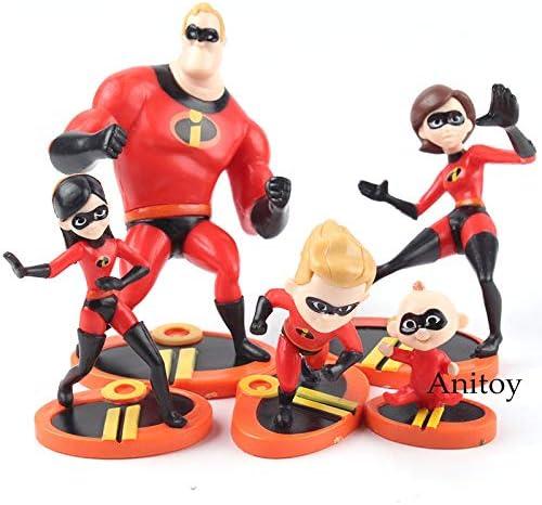 Das Incredibles 2 Film Mini PVC Figuren Modelle 5PCs Kinder Spielzeug Geschenk
