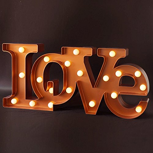 Gift Love Wedding - BRIGHT ZEAL Wedding Decorations LED Marquee Sign LOVE (15.5