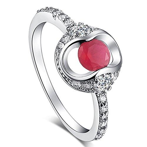 Cushion Tourmaline Earrings - PAKULA Silver Plated Women Simulated Pink Tourmaline Ring