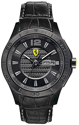 Ferrari Men's 0830093 Scuderia Analog Display Quartz Black - Scuderia Ferarri