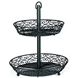 Tablecraft (BKT2A) 2 Tiered Display Basket - Mediterranean Series