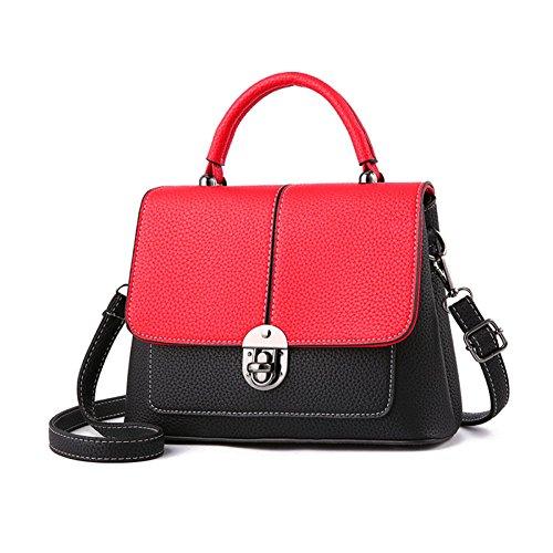 Borse Capacità Tracolla Donna Handbag Grande Shopping Piccola Da Borsa Wineredfightblack ZXdxqw