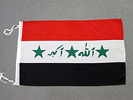 AZ FLAG Bandera de Irak Antigua 45x30cm - BANDERINA IRAQUÍ 30 x 45 cm cordeles: Amazon.es: Jardín