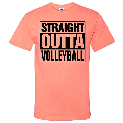 Volleyball Straight Outta Hot Coral T-Shirt