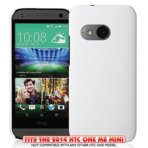 KAYSCASE HTC One M8 Mini (HTC One+ Mini, HTC One Mini Remix, HTC ONE 2 Mini) Slim Hard Shell Cover Case, 2014 Version (Lifetime Warranty) (White)