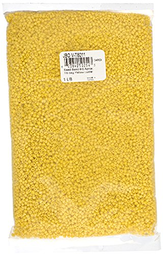 John Bead Outlet 8/0 Vintage Seed Bead Bag, 1-Pound, Yell...