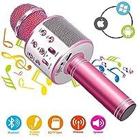 Micrófono Inalámbrico Karaoke Bluetooth con Altavoz, Portátil Karaoke