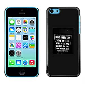 SKCASE Center / Funda Carcasa - Regístrate Canto del cartel del texto;;;;;;;; - iPhone 5C