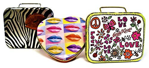 Candy Kisses Flavored Lip Balm 3-Piece Gift Tins