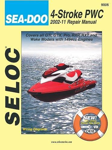 sea doo personal watercraft 2002 11 repair manual all 4 stroke rh amazon com 2013 sea doo service manual 2014 Ski-Doo Snowmobiles