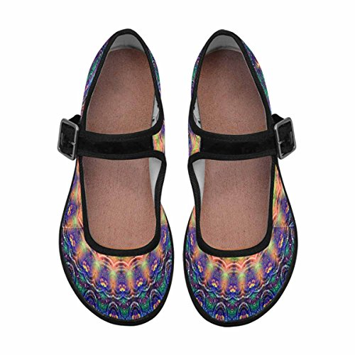 InterestPrint Womens Comfort Mary Jane Flats Casual Walking Shoes Multi 10 FQZhmfqn