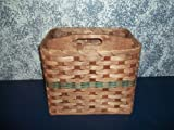 Amish Country Handwoven Magazine Basket with Solid Wood Handled Divider. This Handmade Basket Is Yet Another Unique Product for the Country Home Decor. This Amish Basket Is a Nice One to Fill with Goodies and Give As a Gift Basket. You Would Be Giving a C