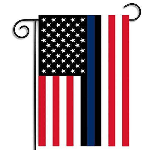 TYPEIN American Flag USA Flag Built for Outdoors Sewn Stripes UV Protection Garden Flag Black White American Flag ()