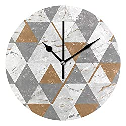 Crystal Chesterton 10 Onyx Marble Decorative Round Wall Clock