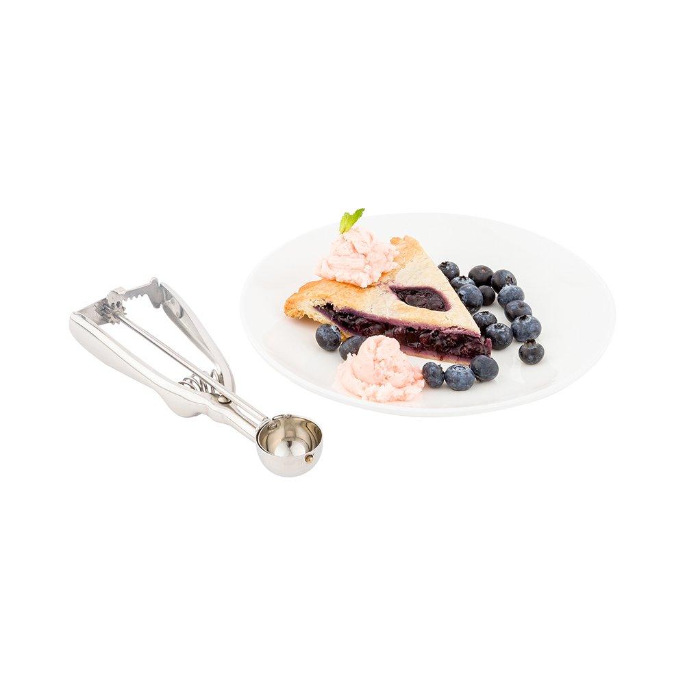 Restaurantware - #100 (0.33 oz) Ice Cream Scoop, Cookie Scoop, Portion Control Scoop - Squeeze Handle for Food Release - Stainless Steel - Met Lux - 1ct Box