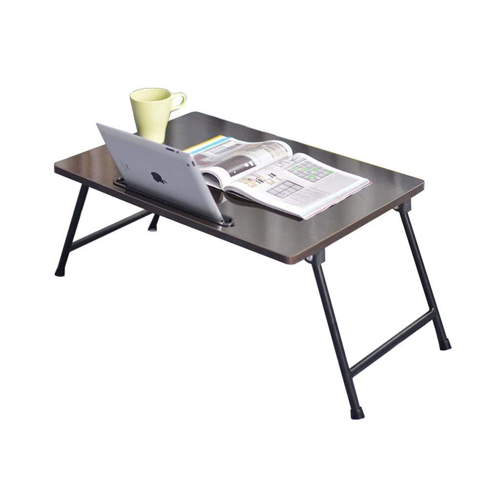 ラップトップベッドテーブル 折りたたみ式ノートブックデスクポータブル読書プレイゲームホルダーブラック   B07KR6N2SC