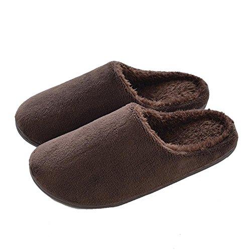 Engrosamiento 003 Zapatillas Cálido On Antideslizante Cálido Invierno Madera Fondo Slippers Wdgt Interior slip Inicio Felpa Suave Piso De Algodón wUOqnp