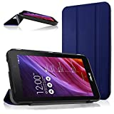 Cooling Asus Memo Pad 7 Me170cx Me170 Case, Ultra Slim Shell Leather Case Cover with Auto Sleep / Wake Feature for Asus Memo Pad 7 Me170cx Me170c Me170 K012, Asus Fonepad 7 Fe170cg Fe170 (Navy))